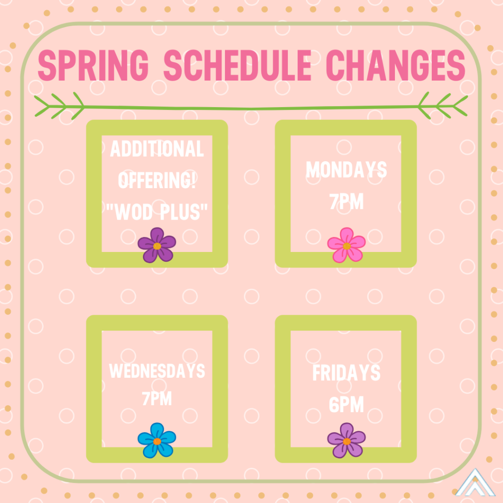 SPRING SCHEDULE CHANGES.IG
